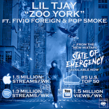 #11 Lil Tjay ft. Fivio Foreign and Pop Smoke